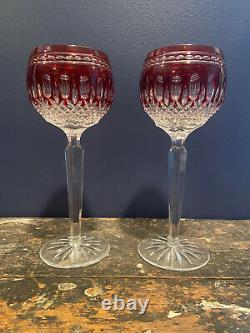 Waterford Crystal Clarendon Hock Wine Goblets Red Set Of 2