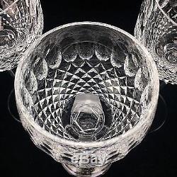 Waterford Crystal Colleen White Wine Glasses Hocks Cut 7 1/2 Stemware Set (3)