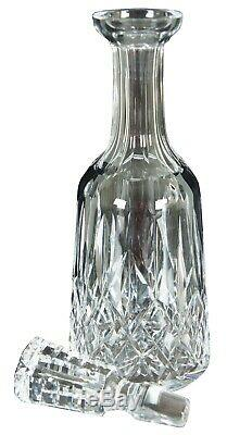 Waterford Crystal Cut Lismore Wine Liquor Spirits Decanter & Stopper Barware 13