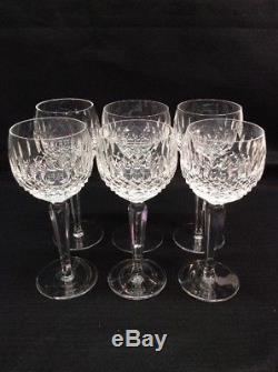 Waterford Crystal Glass Colleen Short Stem 7.5 Hock Wine 6 Pc Set Lot Cut