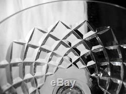 Waterford Crystal Glass Comeragh Cut Foot Base 3 Wine Hocks 7-1/2 Tall