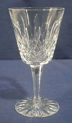 Waterford Crystal Glass Lismore 16 Claret Wine Goblets Glasses 5-7/8 x 3