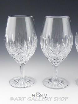 Waterford Crystal ICE TEA BEVERAGE WATER GLASSES GOBLETS Set 4 Exclusive Edition