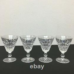 Waterford Crystal Ireland Tramore Maeve Wine Glasses 5 1/2 Goblet Set of 4