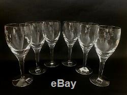 Waterford Crystal John Rocha'GEO' 21cm Wine Glasses x 6 Signed Discontinued