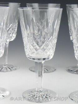 Waterford Crystal LISMORE 6-7/8 WINE WATER GOBLETS GLASSES Set of 10 Unused