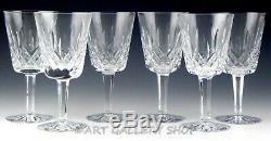Waterford Crystal LISMORE 6-7/8 WINE WATER GOBLETS GLASSES Set of 6 Unused