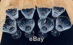 Waterford Crystal Lismore 8 Perfect Wine glasses
