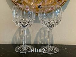 Waterford Crystal Lismore Balloon Wine Glasses Set of 2