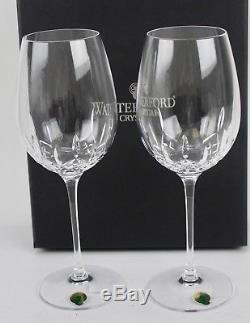 Waterford Crystal Lismore Essence Goblet Wine Glasses Pair NIB Retails $160