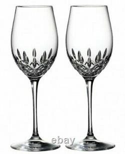Waterford Crystal Lismore Essence White Wine Set of 2 Glasses #143782 New