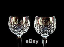 Waterford Crystal Lismore Hock Wine Glasses Set of 4 Mint
