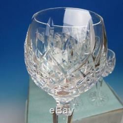 Waterford Crystal Lismore Pattern 8 Wine Hocks Goblets Glasses 7 3/8 inches
