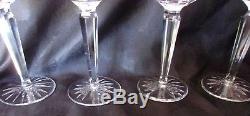 Waterford Crystal Lismore Set of 4 Wine Hock 7 1/2 Goblets 6 oz