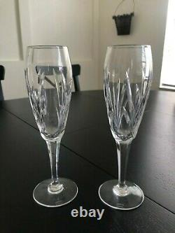 Waterford Crystal Lismore Wine Decanter, Stopper, Wine Glasses, Champagne Flutes