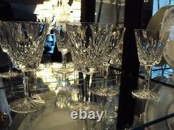 Waterford Crystal Lismore Wine Glasses set 4 from Original Ireland Factory 1973