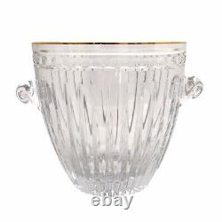 Waterford Crystal Marquis Hanover Gold Handblown Cut Ice Champagne Wine Bucket