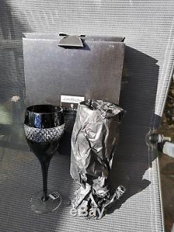 Waterford Crystal Pair Of John Rocha Black Cut Red Wine Glasses