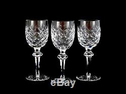 Waterford Crystal Powerscourt Claret Wine Glasses Goblets Set of 3