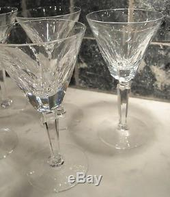 Waterford Crystal Sheila Wine glasses 6 1/2 Tall