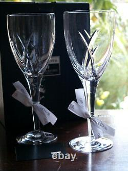 Waterford Crystal Signature Goblet Glass Pair Design by John Rocha 25cm New