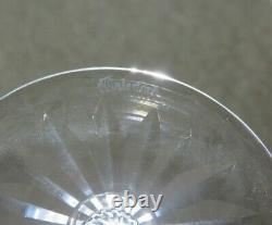 Waterford Crystallismore Cut Wine Hock Glasses Set Of 6 7 1/2 Tall
