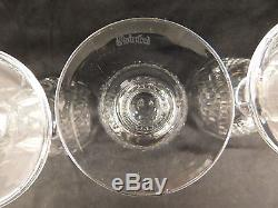 Waterford Cut Crystal Colleen Claret Wine Glasses Beautiful Set Of 4