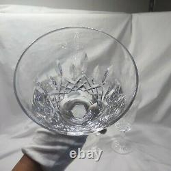 Waterford Ireland Crystal LISMORE 6-7/8 WINE WATER GOBLETS GLASSES Set of 4