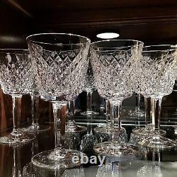 Waterford Irish Crystal Alana 5 7/8 Claret Wine Glasses (7) Original Ireland