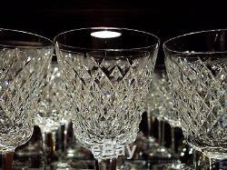 Waterford Irish Crystal Alana Claret Wine Glasses (12) Original Ireland c. 1980's
