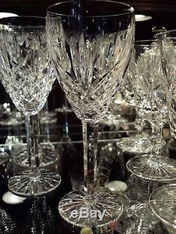 Waterford Irish Crystal Araglin 7 1/8 Wine Glasses (11)Original Made in Ireland