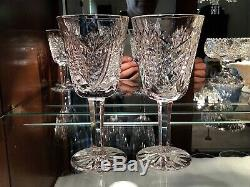 Waterford Irish Crystal Clare White Wine Glasses (4) Original Made in Ireland