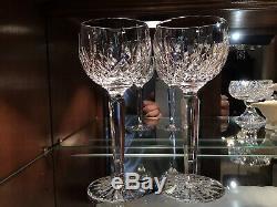 Waterford Irish Crystal Lismore 7 3/8 Hock Wine Glasses (6) Original Ireland