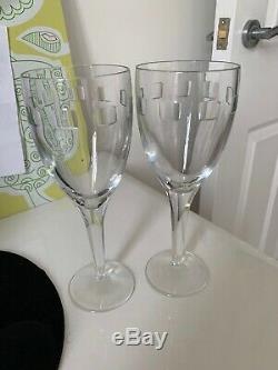 Waterford John Rocha Crystal Wine Glasses X 2