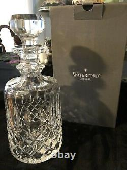 Waterford Kelsey Crystal Spirit Wine Decanter New In Box With Seahorse Label