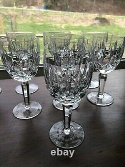 Waterford Kildare set of 8 Water Goblets pristine crystal large glasses