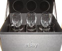 Waterford LISMORE ESSENCE White Wine Set of 6 Glasses Deluxed Gift Box New