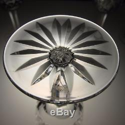 Waterford Lismore Crystal Set 6 White Wine Glasses Cut Signed 5 5/8 in Stemware