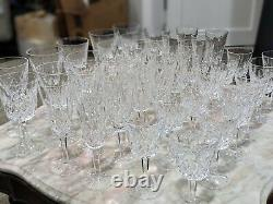 Waterford Lismore, Large Lot of Champagne Flute (8), water (10), wine (10)