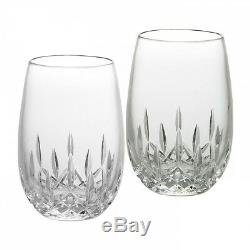 Waterford Lismore Nouveau White Stemless Wine Glass, Pair