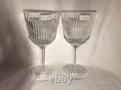 Waterford Marc Jacobs Irene Set of 2 Goblet Crystal Glass New