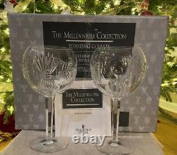Waterford Rare Millennium Millenium Universal Goblets Hock 5 Toasts Mint In Box