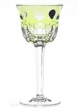 Waterford Simply Lime Cased Green Cut to Clear Crystal Wine Water Goblet New