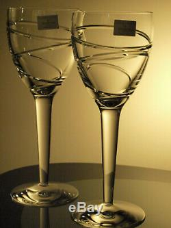 Waterford Stuart Crystal Jasper Conran Aura Goblet Water/ Wine Glass Pair New