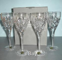Waterford Tierney SET/4 White Wine Glasses Crystal Made in Ireland #159685 New