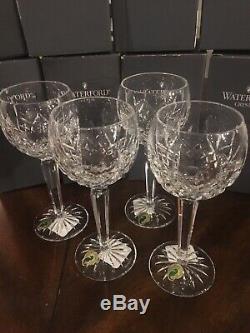 Waterford crystal lismore Hock Glasses Set Of 4
