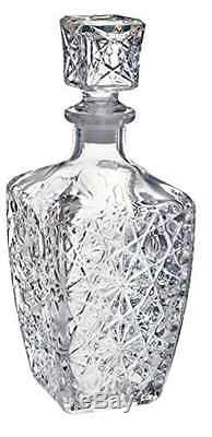 Whiskey Decanter Crystal Bottle Wine Liquor Vintage Glass Scotch Stopper Bar NEW