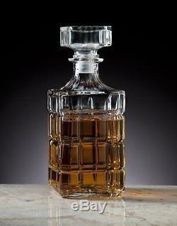 Whiskey Decanter Crystal Bottle Wine Liquor Vintage Glass Stopper Bar Scotch New