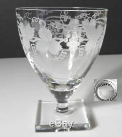 William Yeoward Crystal LEONORA Claret Wine Glass(s) Etched Grapes and Vines