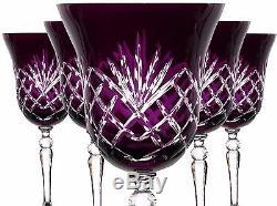 Wine Glasses Roman Lead Glass 6ER (421X KKL) Purple Lens, Roman Glass, Crystal